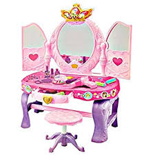 Pink Vanity Table Girls Pink Vanity Glamour Mirror Makeup Dressing Table With Stool