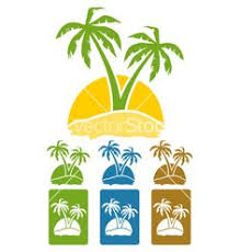 8 tropical palm logo illustration by alicenoir on creative market