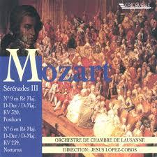 orchestre de chambre de mozart serenades orchestre de chambre de lausanne vol 3