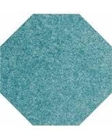 deal alert american bright solid color teal 6 u0027 octagon area rug