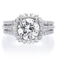 diamond halo rings images Diamond halo style engagement rings long 39 s jewelers jpg