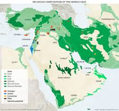 Middle East Map Labeled by Religious Composition Of The Middle East 1280 1190 Mapporn