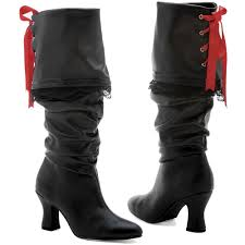 ladies biker style boots womens pirate boots ebay