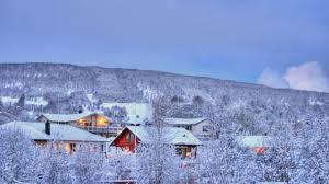 winter holiday scene wallpaper