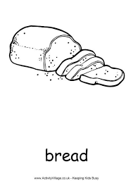 Bread Colouring Page Bread Coloring Page