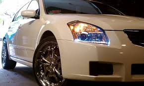 nissan maxima xenon lights 2007 2008 nissan maxima led drl head light strips daytime running