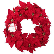 time decor 25 deluxe poinsettia wreath