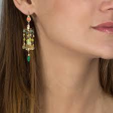 Citrine Chandelier Earrings Coral Big Chandelier Earrings