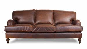 pillow arm leather sofa cococohome english arm pillow back leather sofa made in usa