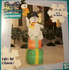 Outdoor Lighted Snowman Decorations by Amazon Com 6 U0027 Frosty The Snowman On Stacked Presents Gifts