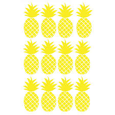 house wall stickers mimi lou frieze with little houses pineapple wall stickers