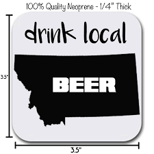 montana state map coaster set drink local six 6 table drink