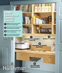 Closet Office Desk How To Turn A Closet Into An Office Family Handyman