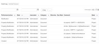 advanced document audit log nuxeo