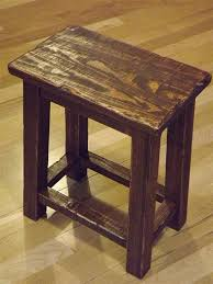 rustic reclaimed wood farmhouse stool sitting stool primitive