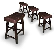 bar stools simple white saddle stool counter height brown