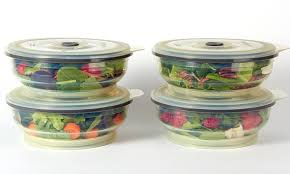 Cup Storage Containers - set of 4 collapse it 6 cup food storage containers groupon