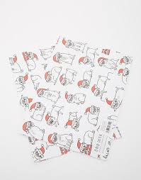 pug wrapping paper ohh deer ohh deer christmas pug wrapping paper 2 pack