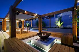 Led Outdoor Furniture - garden wooden table outdoor lighting led outdoor lighting garden