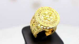 men gold rings mens 14k solid yellow gold yellow diamond ring 15 90 ctw