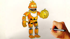 how to draw jack o chica fnaf 4 halloween edition drawing