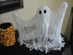 craft klatch cheese cloth ghost craft tutorial
