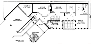 Contemporary House Floor Plan First Floor Plan Of Contemporary Earth Sheltered S Retro House