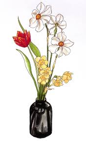 pencil drawing of flower vase with flowers pencil drawing collection