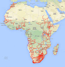 Map Of The Internet A Map Of The Internet Terrestrial Fiber Optic Cables In Africa