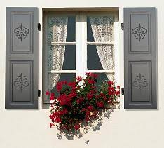 pretty shutters would to stencil some of pattern like