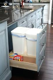 pull out trash can for 12 inch cabinet sneaky ways to hide a trash can in your kitchen a pull out drawer