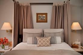Poster Bed Curtains Tab Curtains Bedroom Transitional With Bed Curtains Beige Bedding