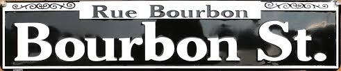 bourbon sign rue bourbon tin metal sign new orleans nola