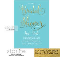 fancy invitations pool blue and gold bridal shower invitation fancy script