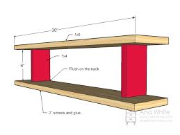 Simple Wood Shelves Plans by Ana White Plane Old Shelf Diy Projects