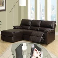 Sectional Sofas With Recliner by Small Chocolate Microfiber Loveseat Recliner Right Chaise