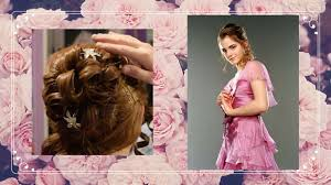 hermione yule ball hairstyle hermione s yule ball wig tutorial youtube
