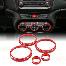 jeep renegade interior colors red air conditioning audio switch knob ring cover trim for jeep