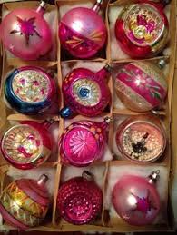 vintage shiny brite bumpy mercury glass christmas ornaments poland