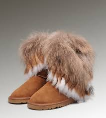ugg boots sale in canada ugg fox fur boots 8288 chestnut sale ugg 126 cad160