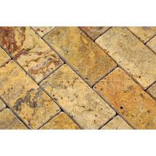 scabos travertine 2 x 4 brick mosaic tile tumbled 6