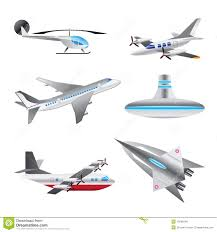 different types of aircraft illustrations royalty free stock image