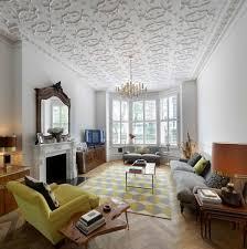 plaster ceiling design with baker ch andelier living room