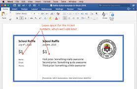 Raffle Sheet Template Print Raffle Tickets A Template In Office Word 2016