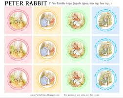party tales free printables peter rabbit cupcake toppers