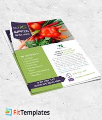 nutrition brochure template nutritionist flyer template