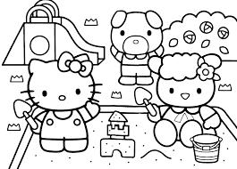 dessin a colorier hallo kitty