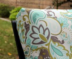 Reupholster Patio Furniture Cushions No Sew Project How To Recover Your Outdoor Cushions Using Fabric