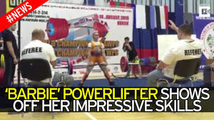 14 Year Old Bench Press Meet The Glamorous Powerlifter Dubbed U0027muscle Barbie U0027 Who Can