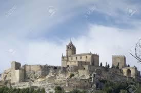 old castle of la mota in alcala la real jaen stock photo picture